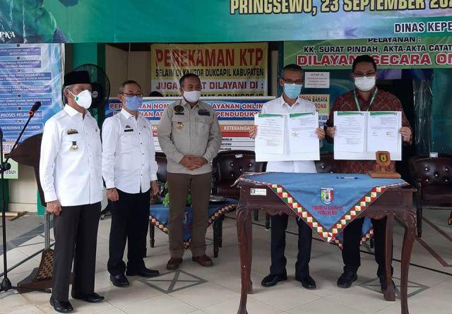 Pemkab Pringsewu & PT.Grab Teknologi Indonesia Jalin Kerjasama Penghantaran Dokumen Kependudukan